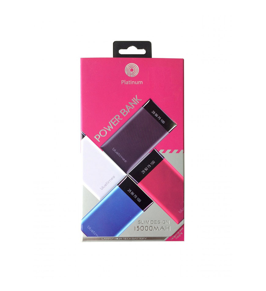 PLATINUM POWER BANK -SLIM-15,000MAH - PP-9005