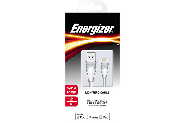 ENERGIZER CABLE LIGHTNING BICOLOR 1.2M - WHITE - C61LIGWH4