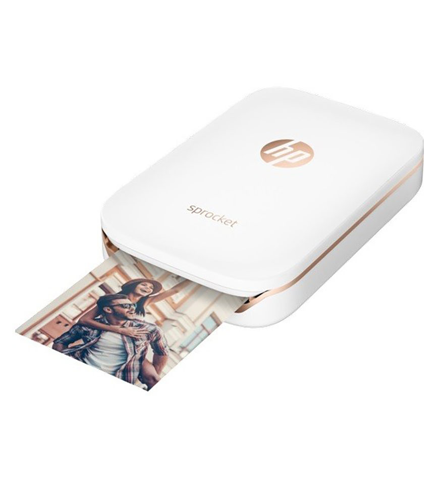 HP SPROCKET - PORTABLE PHOTO POCKET PRINTER - Z3Z91A + 1 PAPER SHEET FREE