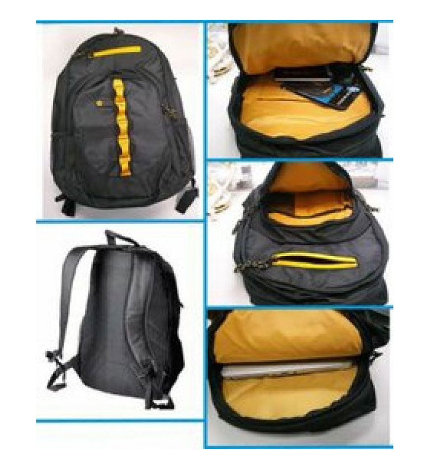 HP 15.6 SPORT LAPTOP BAG - BACKPACK - F3W17AA - BLACK-YELLOW