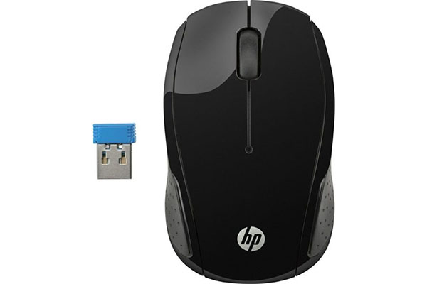 HP 200 WIRELESS MOUSE - BLACK - X6W31AA