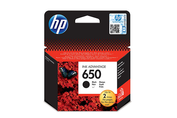 HP 650 Black Original Ink Advantage Cartridge - CZ101AE