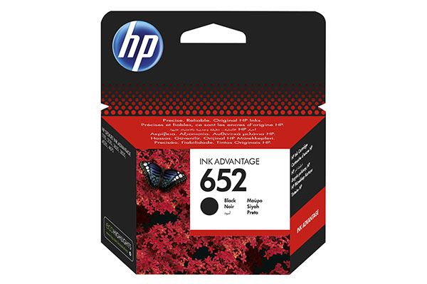 HP 652 Black Original Ink Advantage Cartridge - F6V25AE