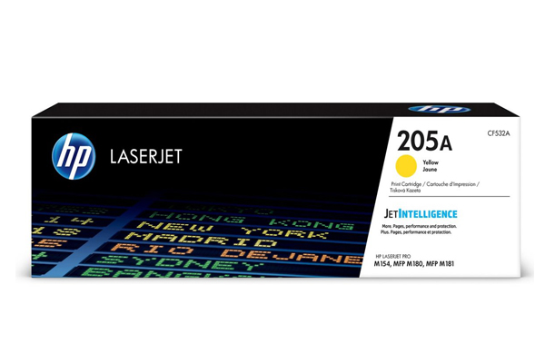 HP 205A Yellow Original LaserJet Toner Cartridge - CF532A