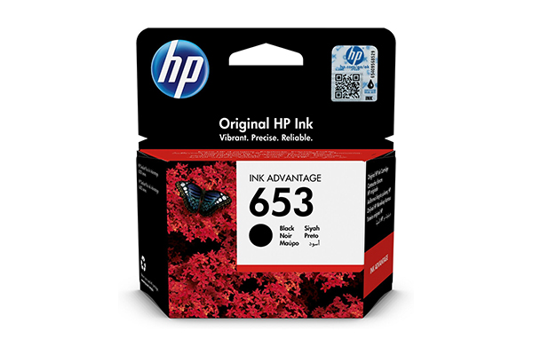 HP 653 Black Original Ink Advantage Cartridge - 3YM75AE