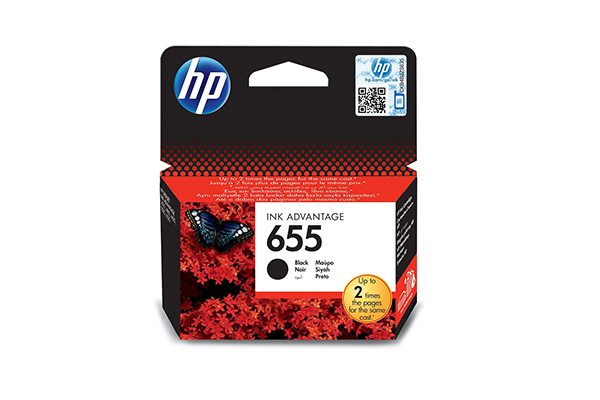 HP 655 Black Original Ink Advantage Cartridge - CZ109AE