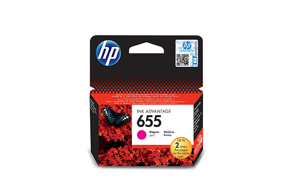 HP 655 Magenta Original Ink Advantage Cartridge - CZ111AE