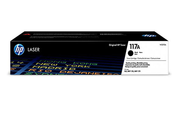 HP 117A Black Original Laser Toner Cartridge - W2070A