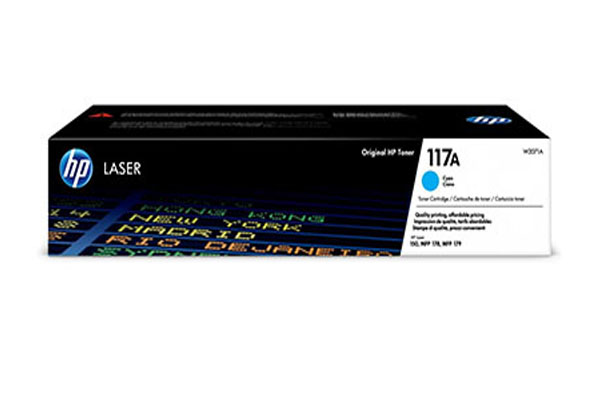 HP 117A Cyan Original Laser Toner Cartridge - W2071A