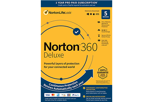 NORTON 360 Deluxe 50GB AR (21405129) 5 user