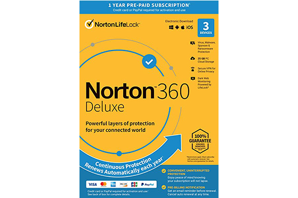NORTON 360 Deluxe 25GB AR (21405146) 3 users