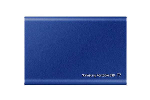 Samsung T7 Portable SSD - 1 TB - USB 3.2 Gen.2 External Indigo Blue - MU-PC1T0H/WW
