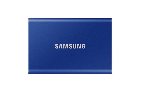 Samsung T7 Portable SSD - 500 GB - USB 3.2 Gen.2 External Indigo Blue - MU-PC500H/WW