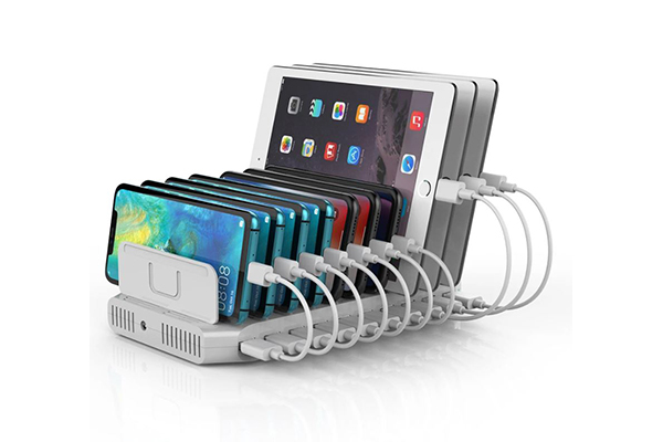 Unitek USB 10-Port Smart Charging Station White, 12V8A Power Adapter - Y-2172